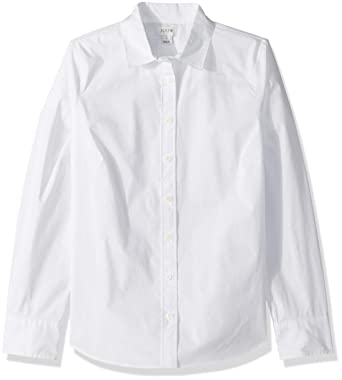 7f42df9f0b7 J.Crew Mercantile Women's Stretch Long-Sleeve Solid Shirt at Amazon ...