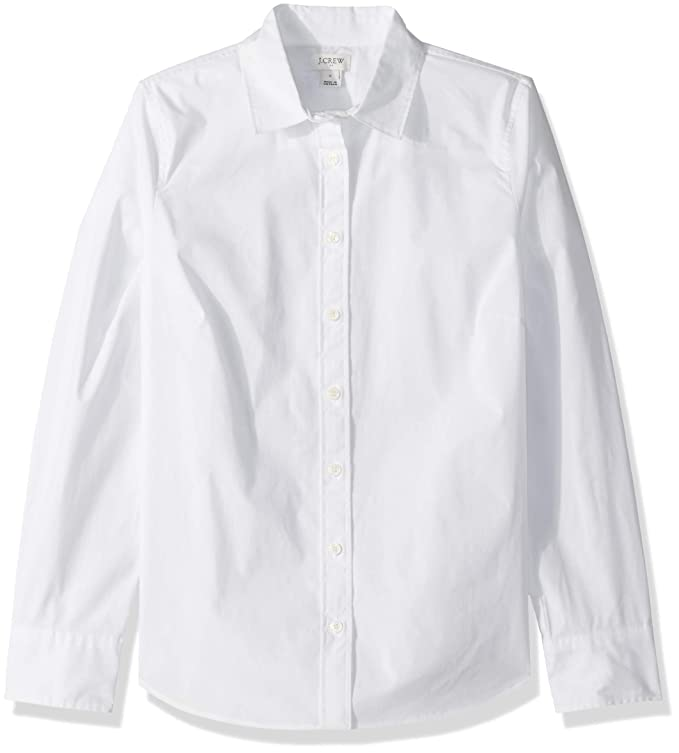 J.Crew Mercantile Women's Stretch Long-Sleeve Solid Shirt, White XX-Small