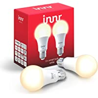 Innr E27 Lampadina LED, Dimmerabile, Philips Hue* & Echo Plus compatibile, RB 265-2 (White, 2-Pack)