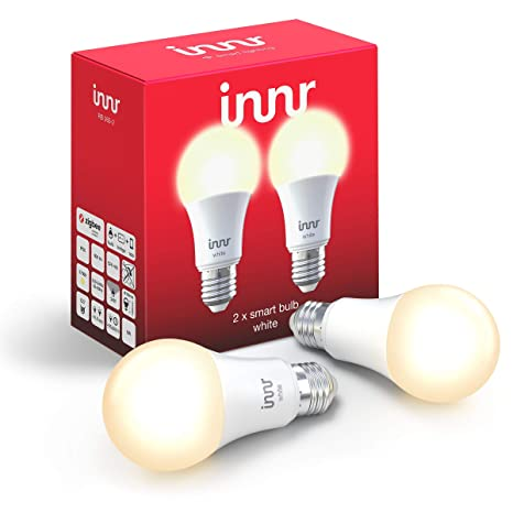 Innr E27 2-Pack Bombilla LED conectada, luz blanca cálida, Philips Hue*