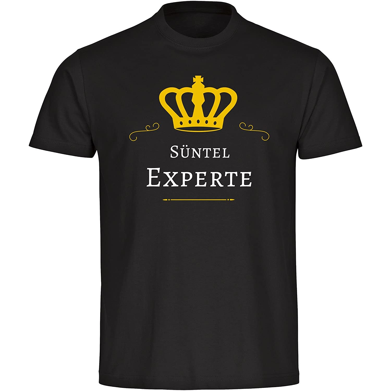 S眉ntel Expert Men's Black T-Shirt Size S to 5XL