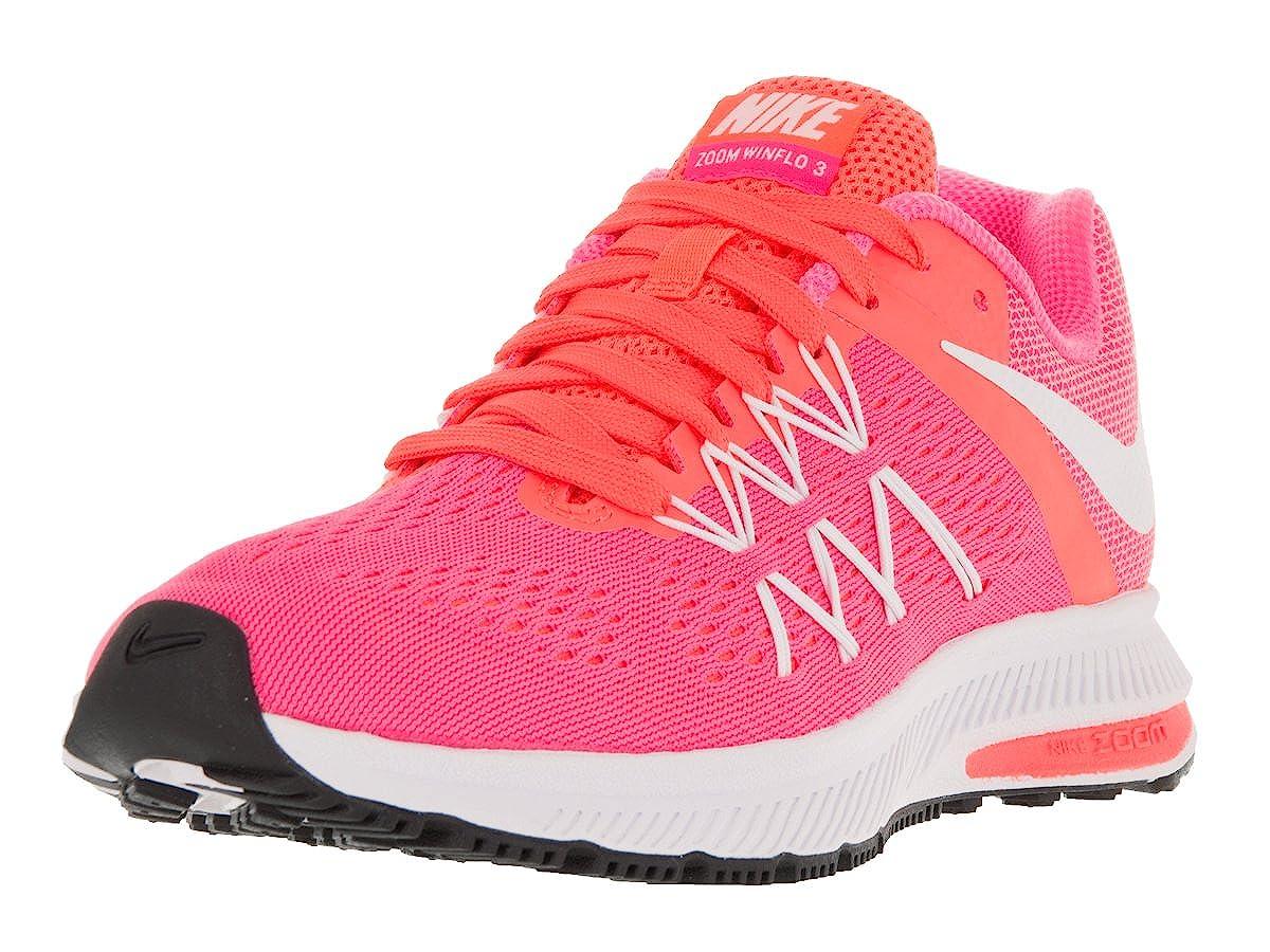 separation shoes a0964 84bc0 Nike Women s Zoom Winflo 3 Pink Blast White Bright Mango Running Shoe 10  Women US  Amazon.in  Shoes   Handbags