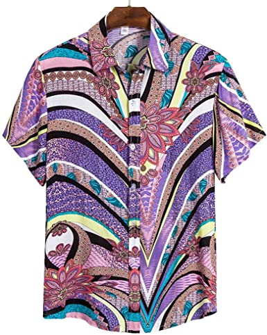 Camisa de Playa Camisa Hawaiana de Manga Corta para Hombres ...