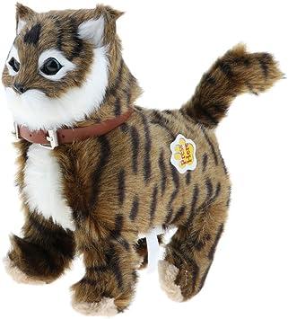 non-brand Juguete Electrónico de Felpa Forma Gato Caminando Miau Juguete para Niños - Marrón: Amazon.es: Juguetes y juegos