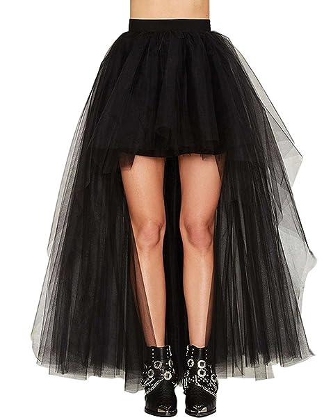 b3956bbe0c Babyonline Black Tutu Women Tulle Skirt High Waist Bustle Skirt at ...