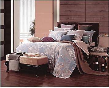Fesselnd Eleganter Jacquard Damast Design Bettbezug Set, Mit Wende Luxus Seide  Massiv Tabelle Angenehm Betten,