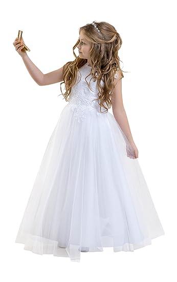 Lacey Bell Vestido Primera Comunion Dama Honor Brillo Falda de Tul ...