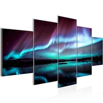 Bilder Polarlicht Wandbild 200 x 100 cm Vlies - Leinwand Bild XXL ...
