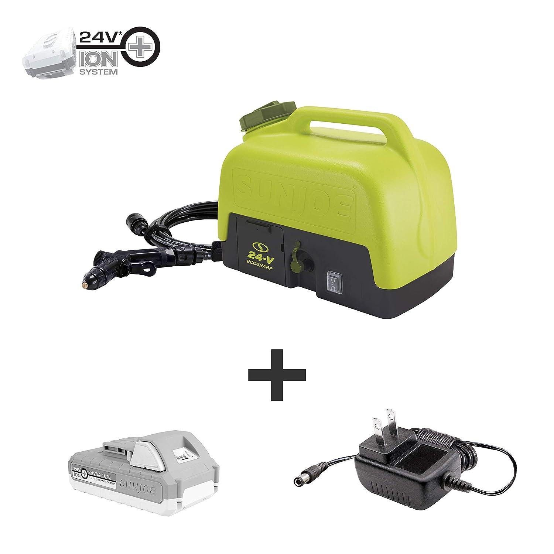 Sun Joe WA24C-LTE 24-Volt Amp 5-Gallon Electric Pressure Washer, Kit (w/2.0-Ah Battery + Quick Charger)