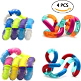 NANAHouse Set of 4 Tangle Fidget Sensory Toys Relieves Stress and Anxiety Attention Toy - Random Color