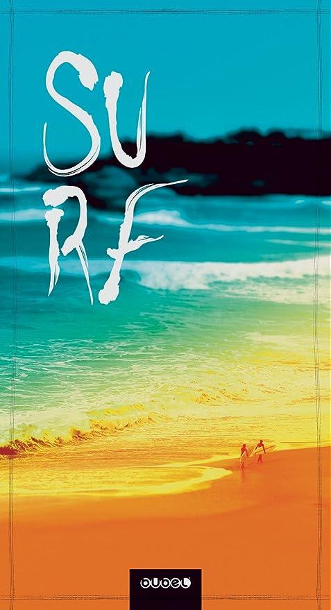 Bubel Foco Toalla Playa Azul/Naranja