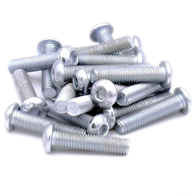 Douille hexagonale M8(8mm X 35mm) Button dôme à tête (Vis)–Acier (lot de 20) Singularity Supplies