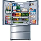 """Smad 36"""" French Door Refrigerator 2 Drawer Freezer Stainless Steel with Ice Maker, 20.7 Cu.Ft."""