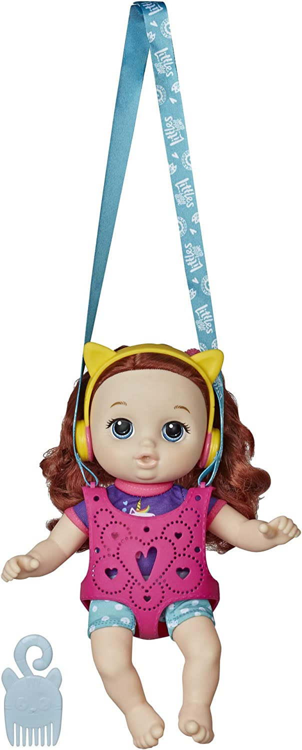 Baby Alive Littles, Carry 'n Go Squad, Little Zoe, Red Curly Hair Doll, Doll Carrier, Accessories, Toy for Kids Ages 3 Years and Up