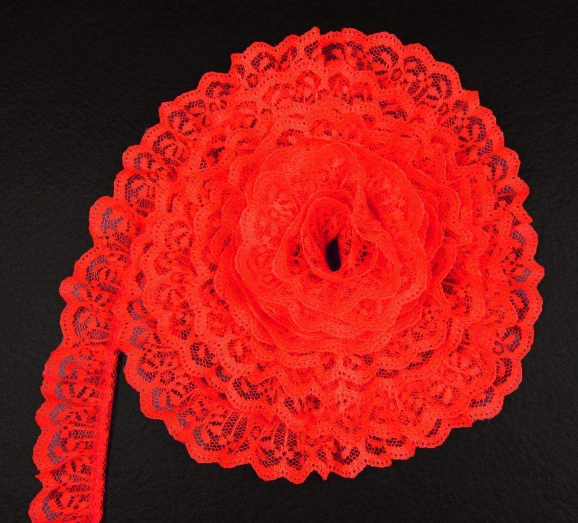 Bulk Lace~50 Yards Black 2 Inch Wide Ruffled Candlewick Lace Trim