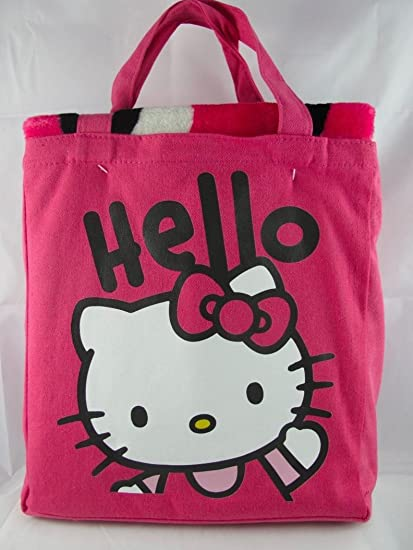 d7de6278d3 Amazon.com  Hello Kitty Silk Touch Throw   Canvas Tote  Home   Kitchen