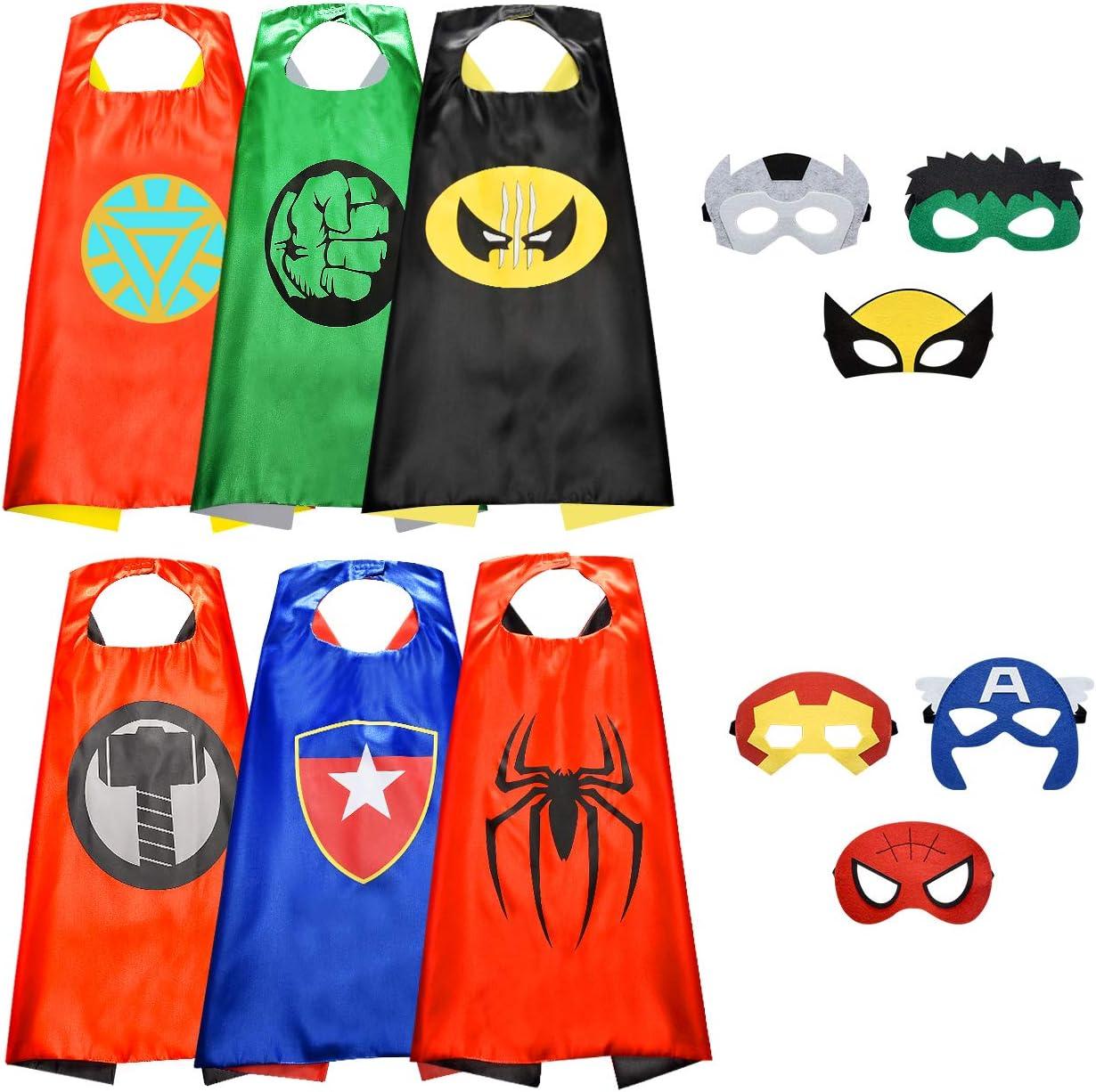 Easony Capa de Superhéroe para Niños Disfraces Infantiles para Cosplay de Fiesta de cumpleaños de Navidad - Los Mejores Regalos
