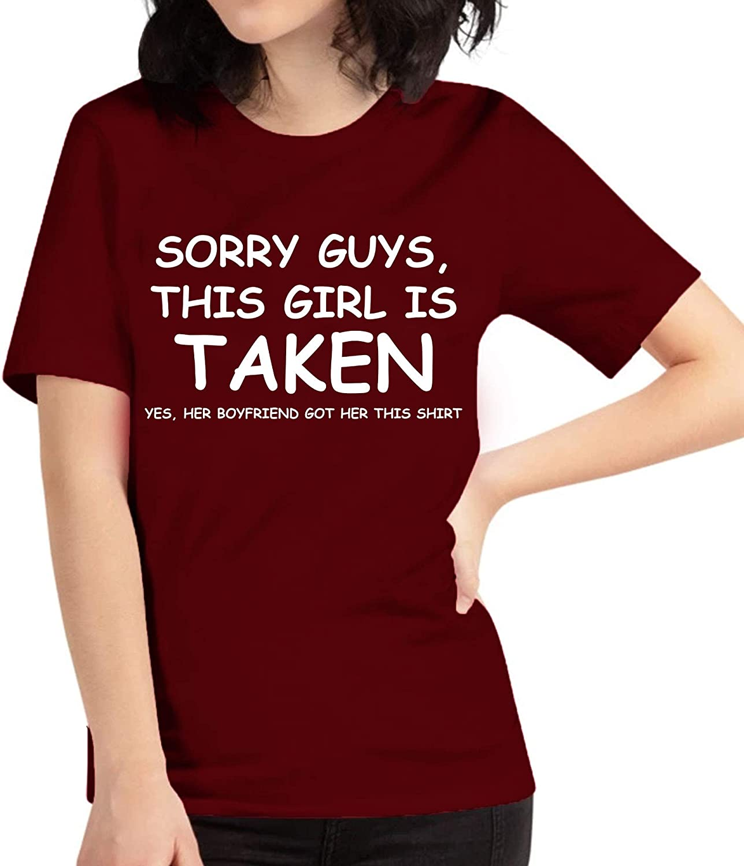 The Next Funny Cute Sorry Im Taken Girlfriend Tshirt from Boyfriend t-Shirt for Men Women