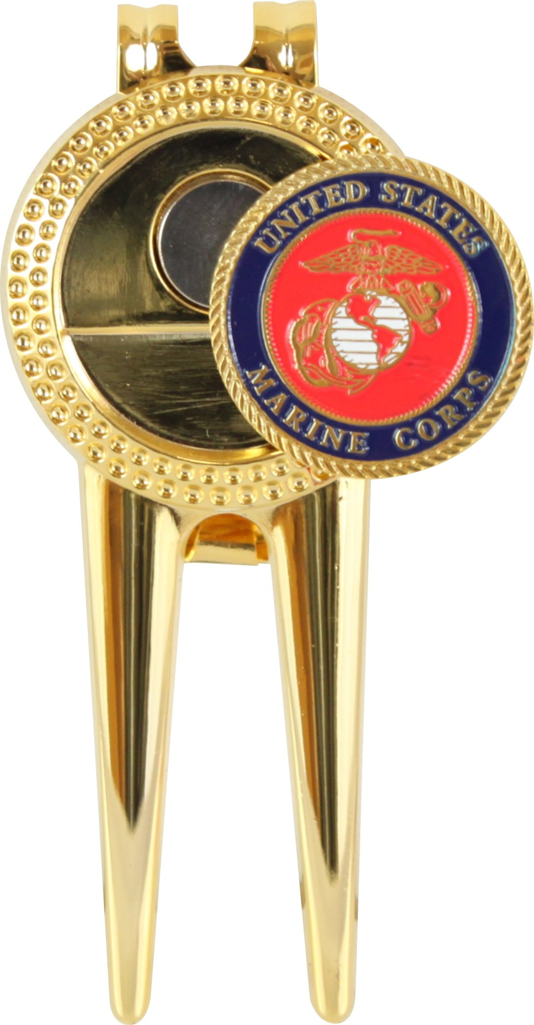 Golf By MilitaryBest US Marine Corps Divot Repair Tool with Magnetic Ball Marker by Golf By MilitaryBest (Image #1)