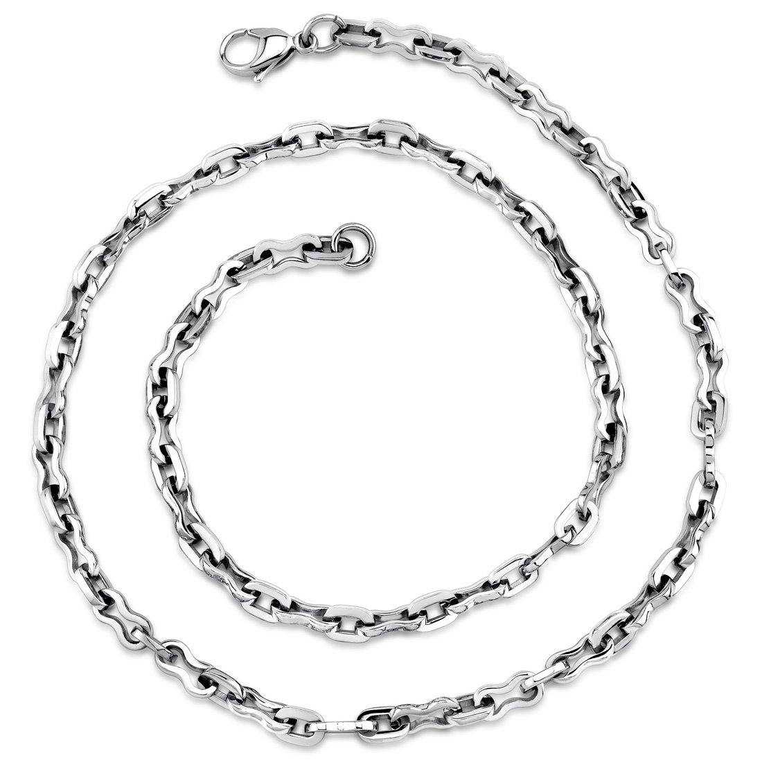 Peora Cascading Circles Silver-Tone Stainless Steel Mesh 18 inch Necklace