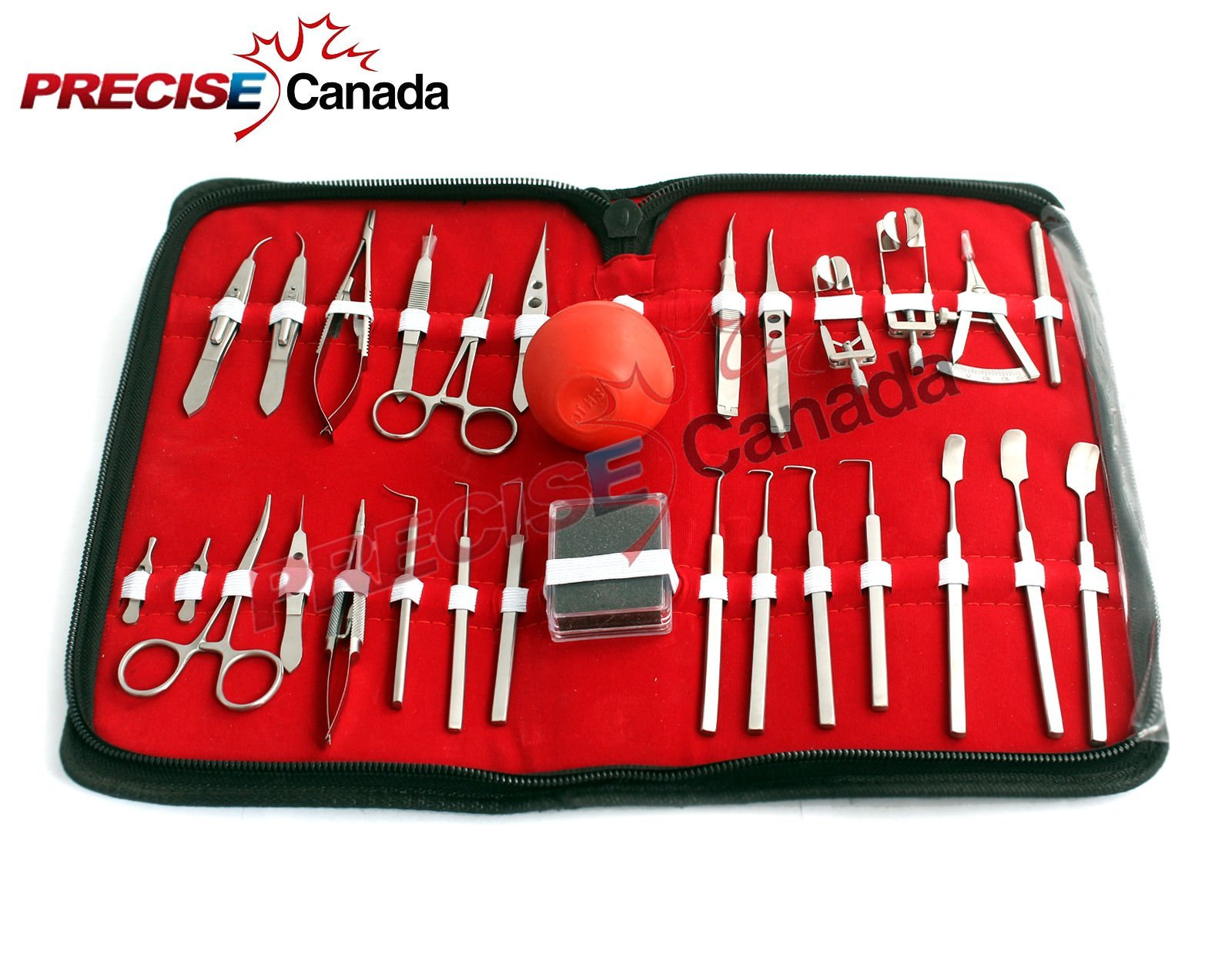 PRECISE CANADA SCISSORS: NEW 27 PIECES O.R GRADE STRABISMUS EYE OPHTHALMIC SET KIT EYE INSTRUMENTS STAINLESS STEEL