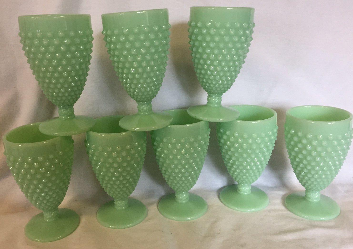 Hobnail Pattern - Tumbler or Juice Glass - Jadeite - American Made - Mosser USA (8)
