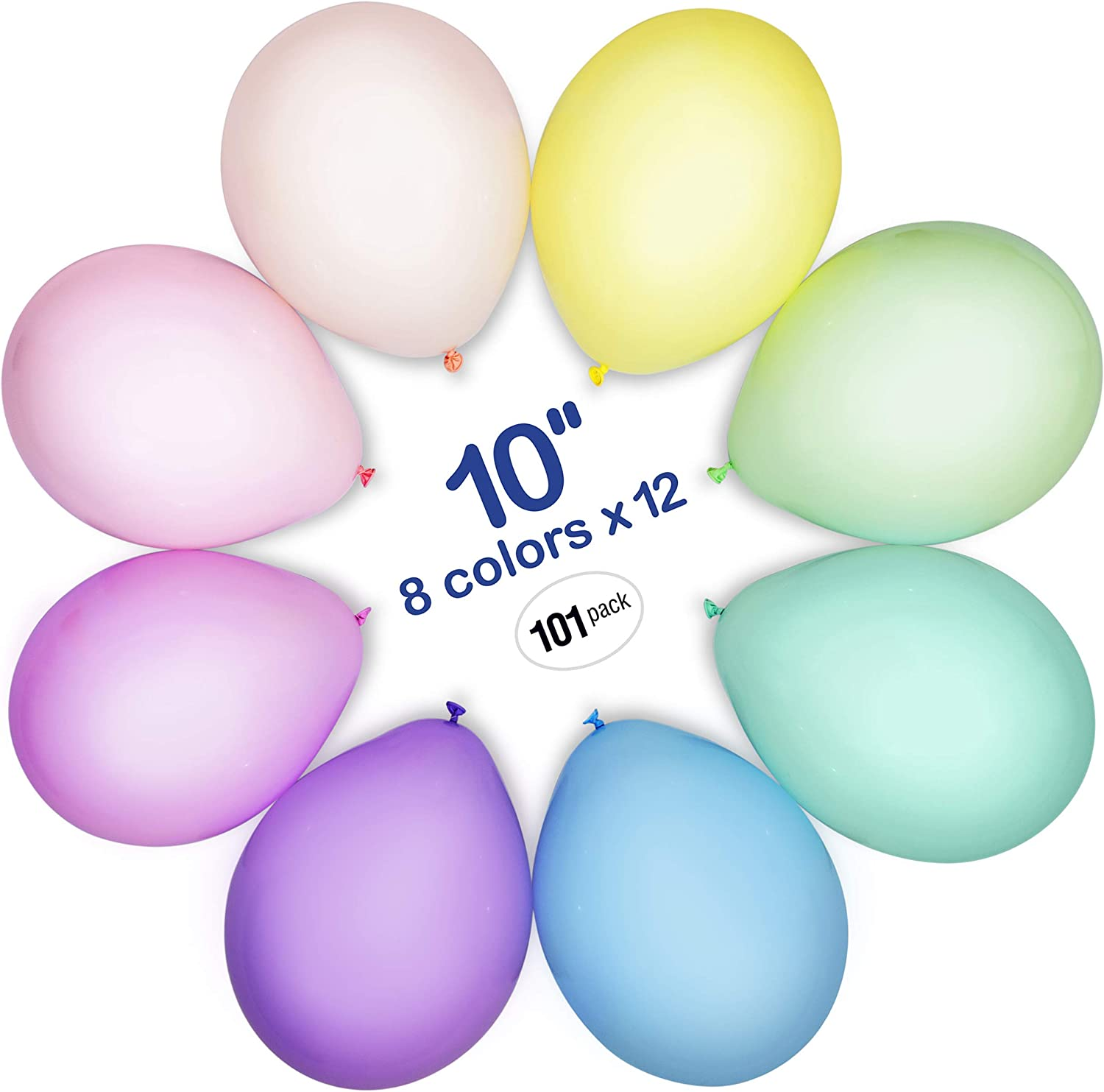 """5/"""" Assorted Rainbow 6 Color Mix Latex Party Balloons Choose Pack Event Decor"""