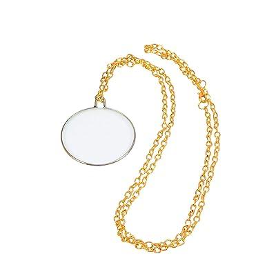 Gents Monocle on Gold Chain (accesorio de disfraz): Juguetes y juegos