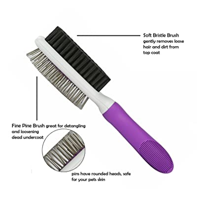 Poodle Pet Double-Sided Pet Brush