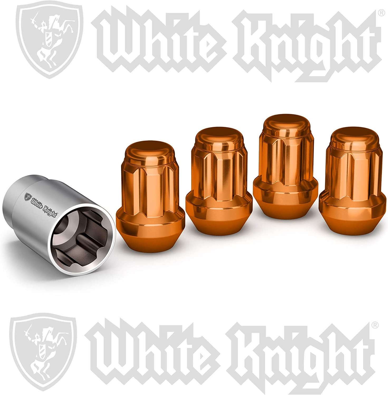4 Pack White Knight 40400SBLT Blue  Wheel Lock
