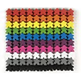 Apostrophe Games 100 Multi-Color Wooden Meeples - Standard Size (16mm)