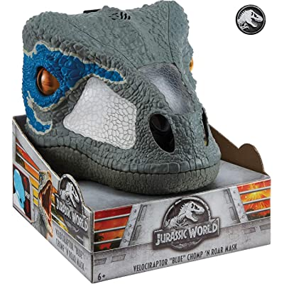"Jurassic World Chomp 'n Roar Mask Velociraptor ""Blue"": Mattel: Toys & Games"