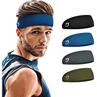 Amazon Price History:Vinsguir Sports Headbands for Men (4 Pack) - Lightweight Mens Headband Sweat Band, Moisture Wicking Workout Head Band…