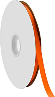 "product image for Offray Berwick 3/8"" Single Face Satin Ribbon, Autumn Orange, 100 Yds"