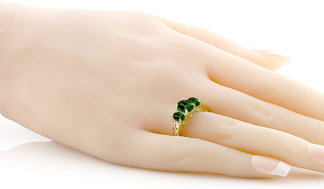 Details about  /Chrome Diopside 2.61 Ct Gemstone Oval Shape 10k Rose Gold Ring for Women