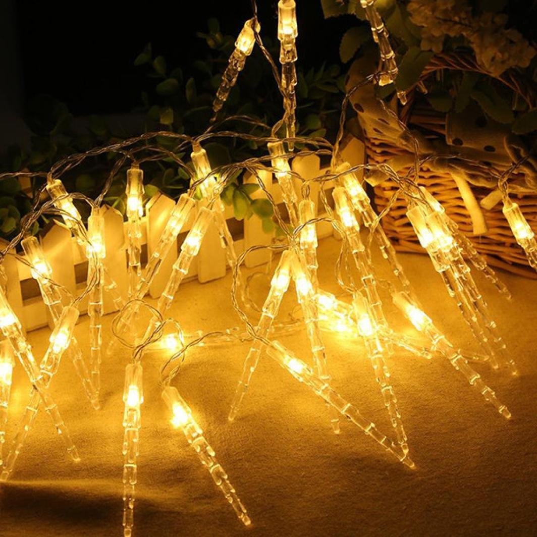 Icicle String Lights,ZYooh 20LED Metal Pineapple Shaped Copper Wire Starry String Lights for Bottle Lights DIY Decor,Christmas,Halloween,Wedding,Dancing,Party (cool) ZYooh-20170920001