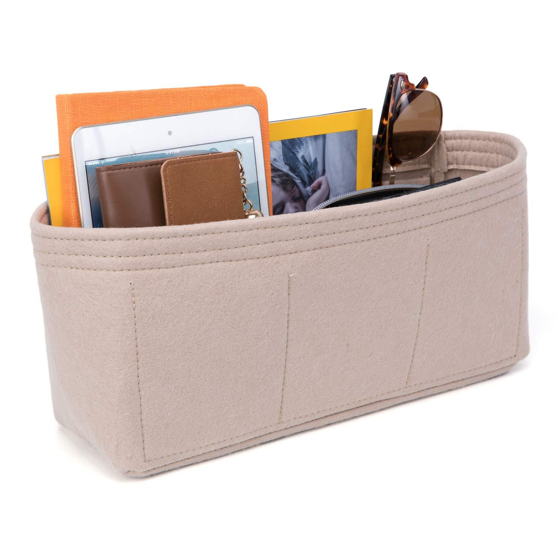 Beige MICOM Womens Shoulder Handbag Tassels Pu Leather Work Bag Laptop Bag