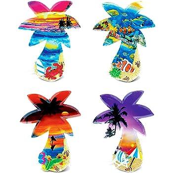 CoTa Global Colorful Tropical Palm Trees - 3D Designs - Summer Magnet (4pc Set) - Item #7576