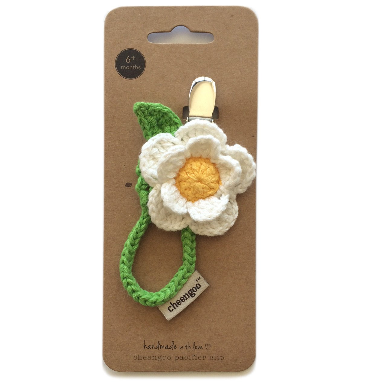 Amazon Cheengoo Organic Hand Crocheted Pacifier Clip Daisy