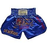 HAOXUAN Shorts Courts pour Hommes pour Combattre Le Combat Muay Thai Kick Boxing Fitness Boxe Kickboxing Shorts Muay Thai Shorts Boxeo,4,M