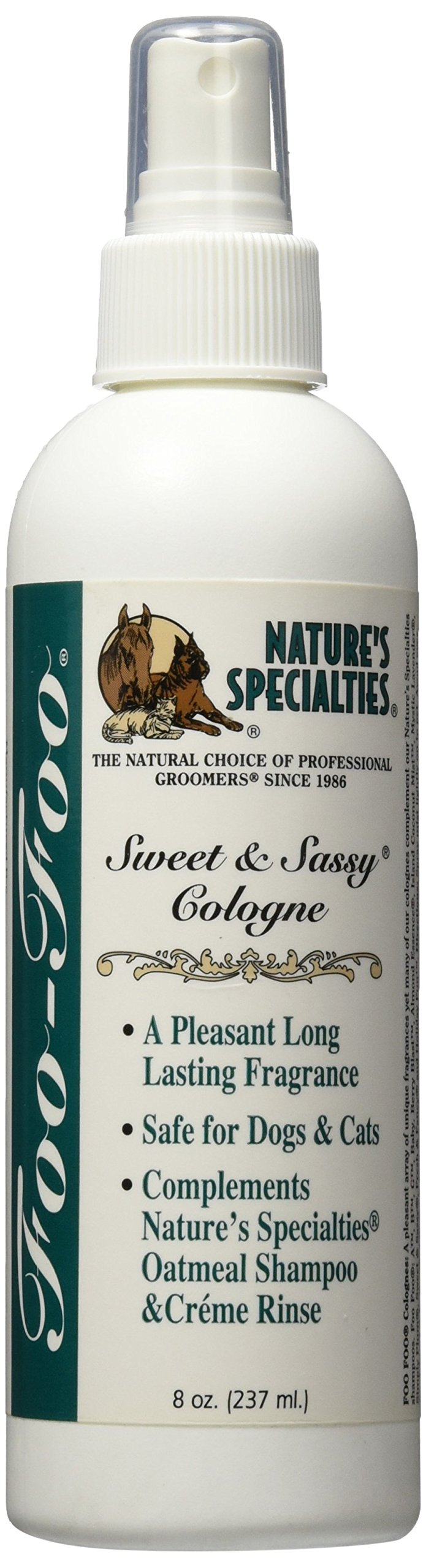 Nature's Specialties Foo Foo Sweet and Sassy Pet Cologne, 8-Ounce