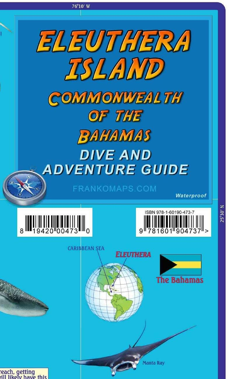 Eleuthera Island Bahamas Dive Adventure Map Franko Maps Franko