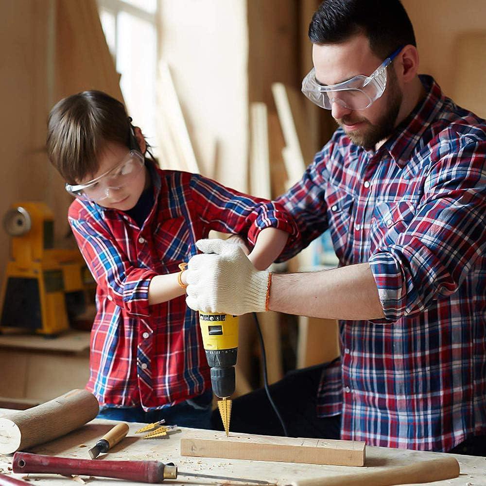 Set 4-12 mm Edelstahl Metall Lochschneider f/ür Holz 3-13 mm 3-19 mm HSS Stufenbohrer 5-22 mm und 8-35 mm Kegelbohrer High Speed Stahl Stufenbohrer Blech