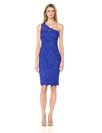 0cb1f828 Eliza J Women's Petite One Shoulder Lace Sheath (Regular & Petite ...