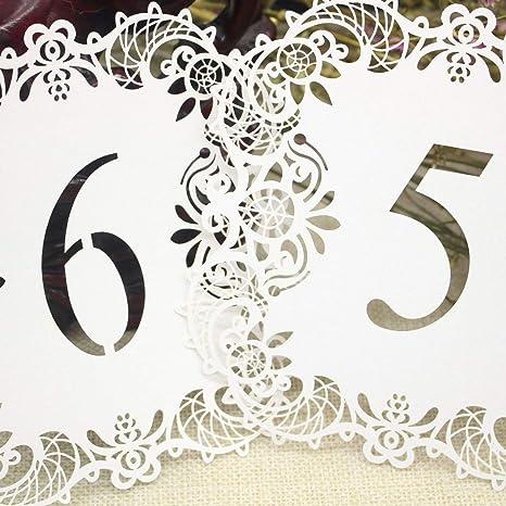 XZANTE 10pzs /juego Numero de la mesa de boda Tarjeta de mesa ...