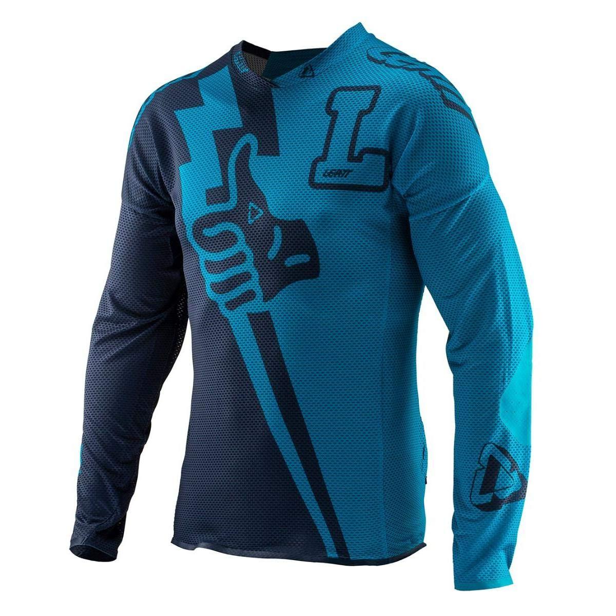 Leatt Downhill-Jersey DBX 4.0 Ultraweld Blau Gr. XL