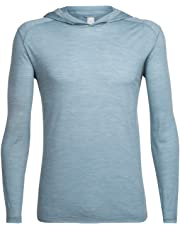 Icebreaker Merino Men's Sphere Long Sleeve Lightweight Hoodie Travel, Merino Wool