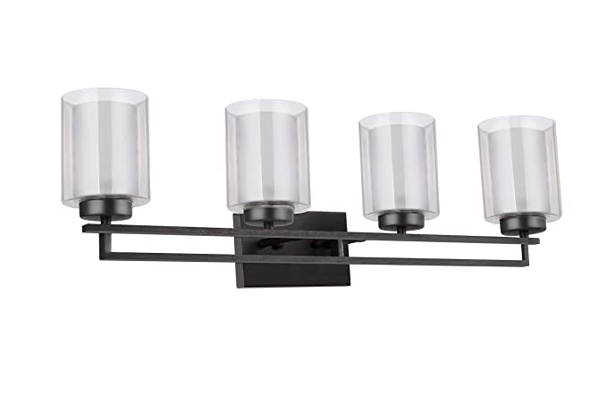 huge selection of afb1e 4acfd TENGXIN Wall Light 4 Lights Bathroom Vanity Lighting with Glass Shade in  Oil Rubbed Bronze,Bathroom Light Fixtures,Bathroom Wall Lamp,Mint ...