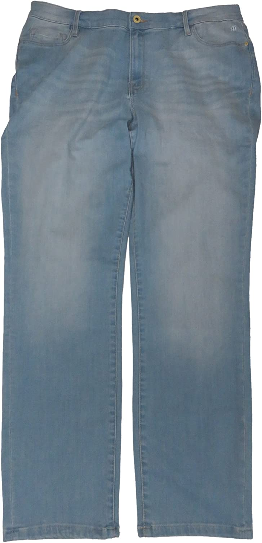 Tommy Hilfiger Womens Greenwich Skinny Jeans Light Stonewash Size 16