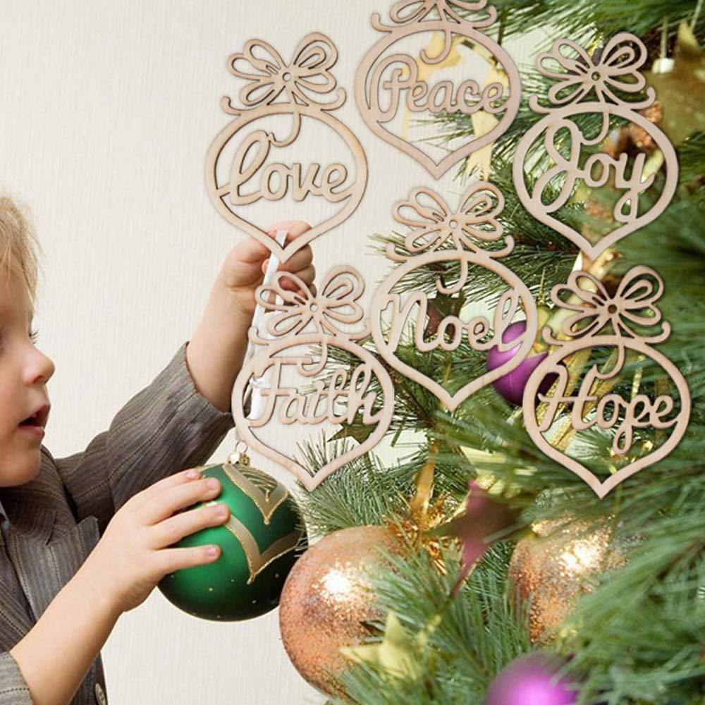 Serwoo 12 Stuck Weihnachten Anhanger Holzanhanger Weihnachtsanhanger